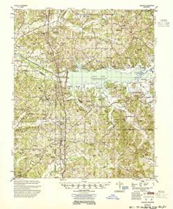 YellowMaps Oakland MS topo map, 1:62500 Scale, 15 X 15 Minute, Historical, 1954, 21.7 x 17.9 in