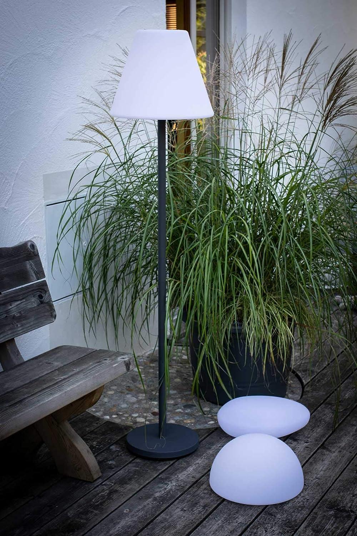 7even Design Solar Led Stehlampe Fur Aussen Mit Integriertem
