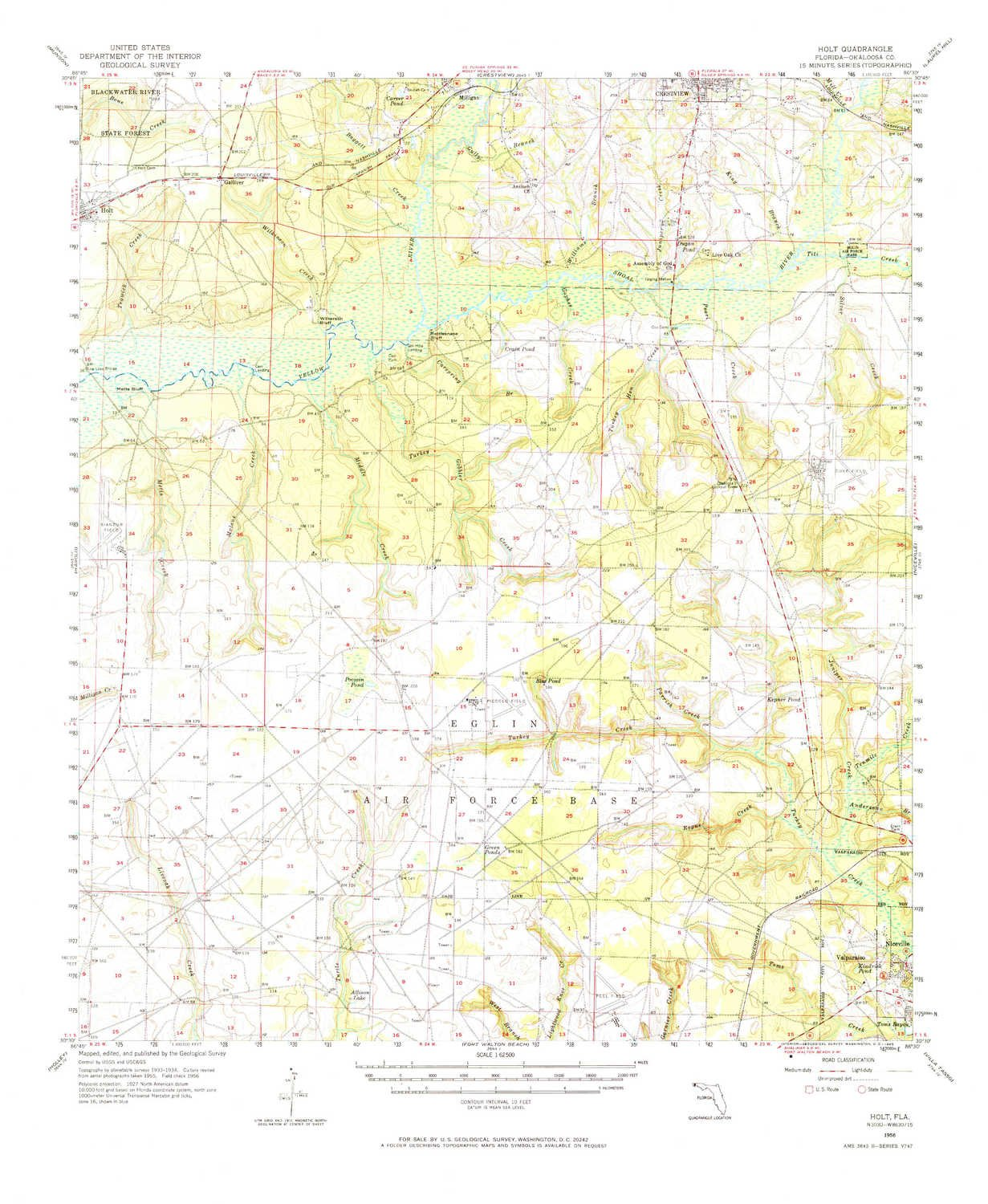 Holt Florida Map.Amazon Com Yellowmaps Holt Fl Topo Map 1 62500 Scale 15 X 15