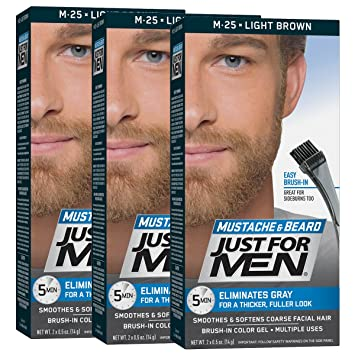 Amazon.com : Just For Men Mustache & Beard Brush-In Color Gel, Light ...