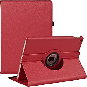 iPad Mini 1/2/3 Smart Case (7.9 inch) 360 Degree Rotating Multi-Angle Viewing Folio Stand Cases for Apple iPadMini 1st/2nd/3rd Generation (Red)