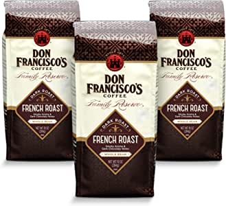 Don Francisco's Whole Bean French Roast, Dark Coffee (3 x 12-Ounce Bags)