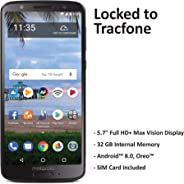 ($50 eGift Card Promotion) TracFone Motorola Moto G6 4G LTE Prepaid Smartphone (Locked) - Black - 32GB - Sim Card Included -