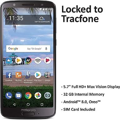 TracFone Motorola Moto G6 4G LTE prepago Smartphone: Amazon.es ...