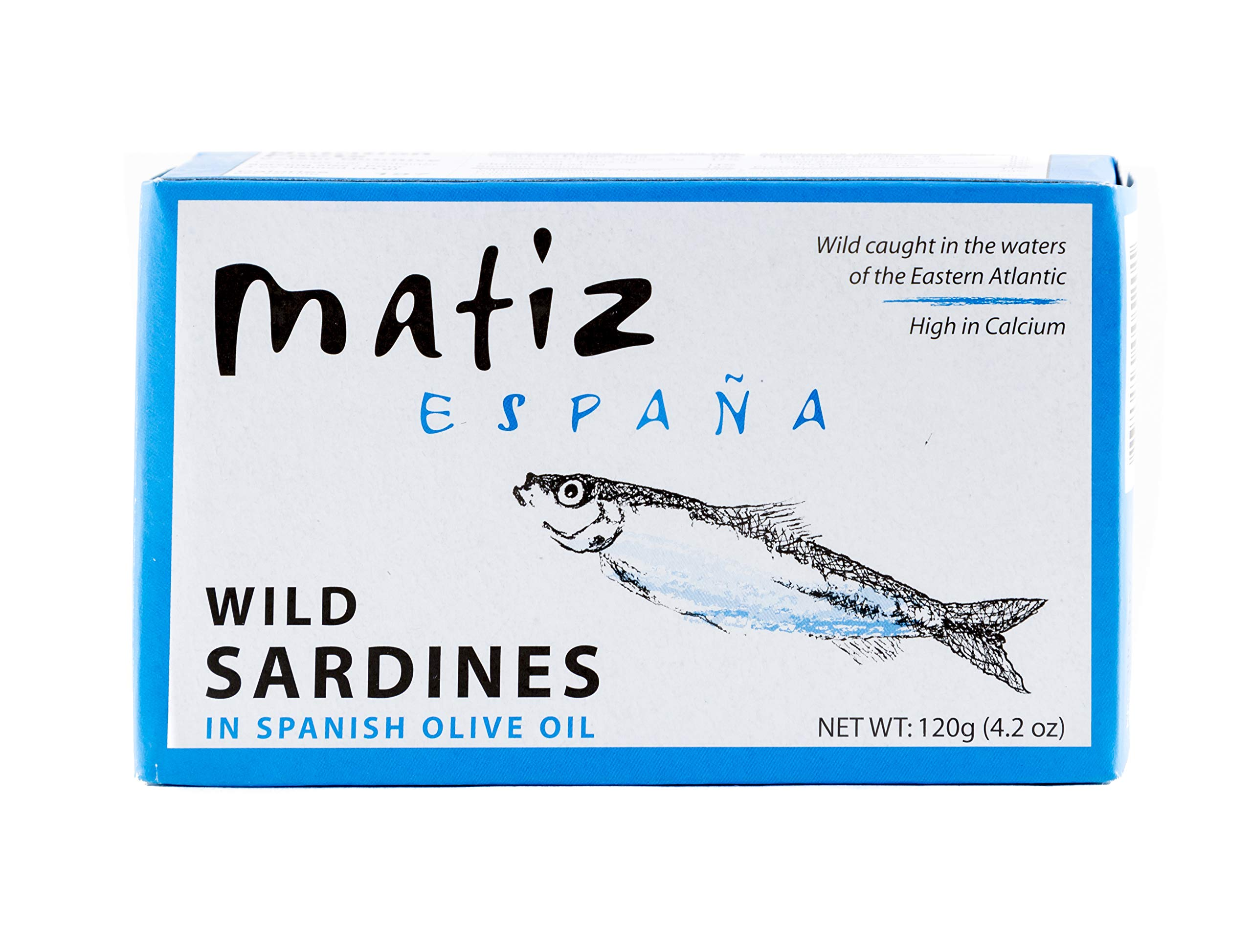 Matiz España Wild Spanish Sardines in Olive Oil, 4.2-Ounce (Pack of 5)