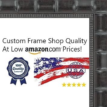 Amazon.com - 30x30 Bamboo Black Wood Picture Square Frame - UV ...