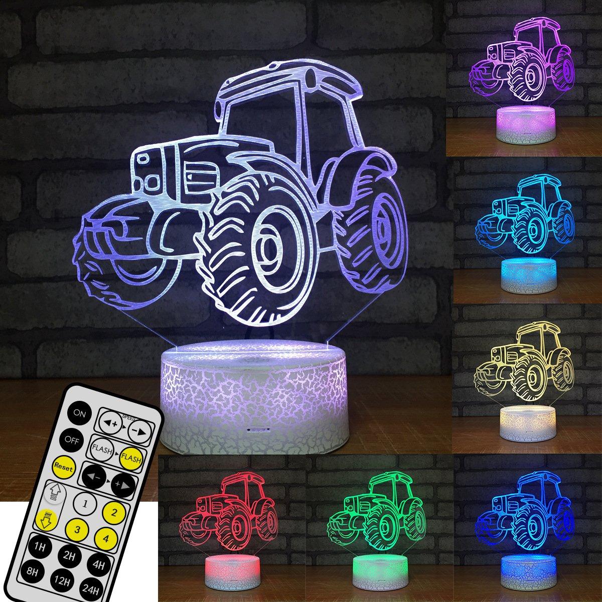 Tractor Led Novedad Illusion Night Car 3d Efecto Light OPknXw80