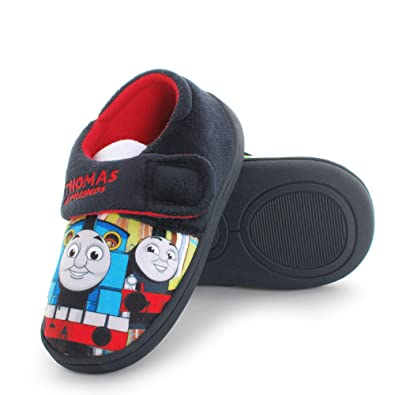 Thomas The Tank Engine Boys Blue Low Top Soft Touch Slippers UK Sizes Child 5-10