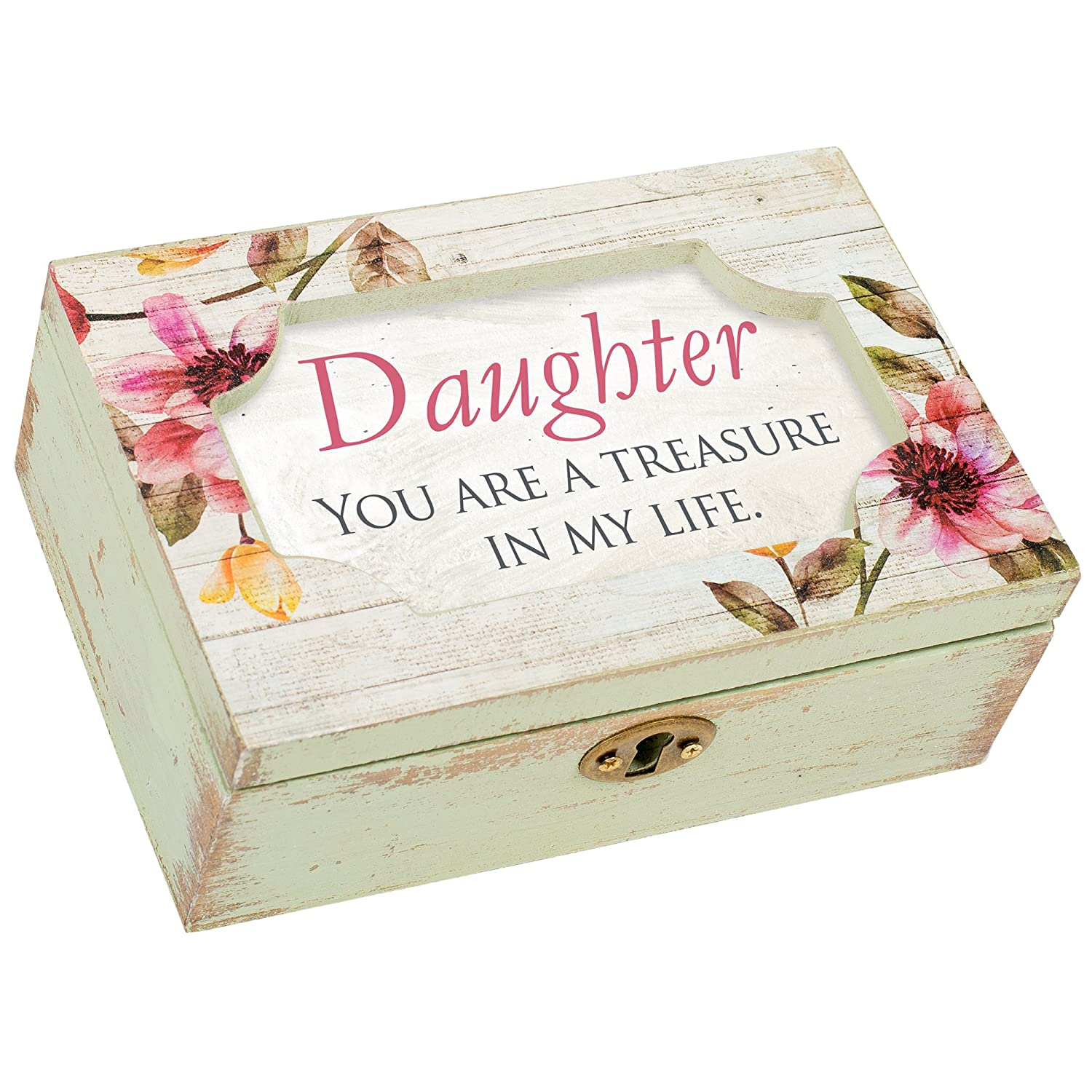 Cottage Garden Daughter Decoupage Echinacea Floral Petite Music Musical Box Plays Tune You Light Up My Life