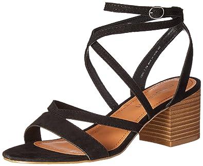 0d12954b64d Madden Girl Women s Leexi Dress Sandal Black Fabric 6 ...