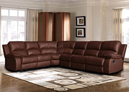 Large Classic Sofa   Sectional   Traditional   Bonded Leather