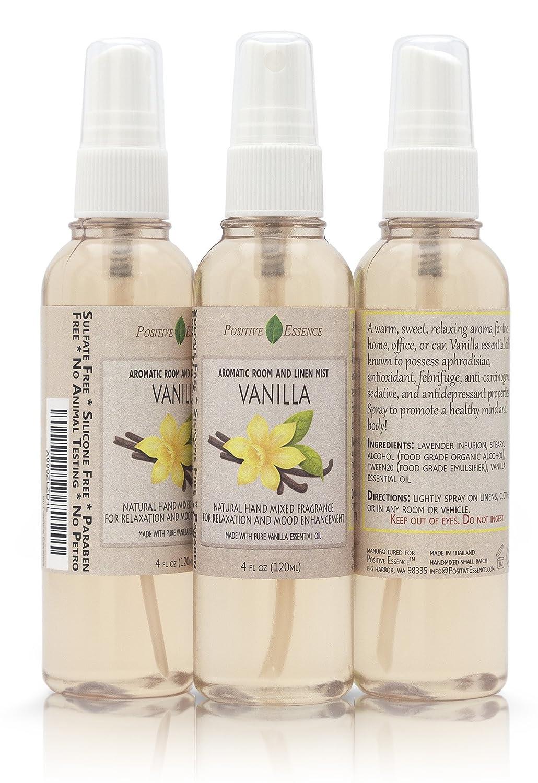 Amazon.com: Positive Essence Vanilla Room and Linen Spray - Natural ...