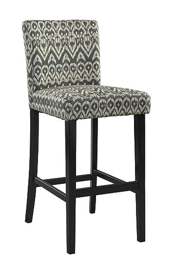 linon home decor counter height morocco stool driftwood - Linon Home Decor