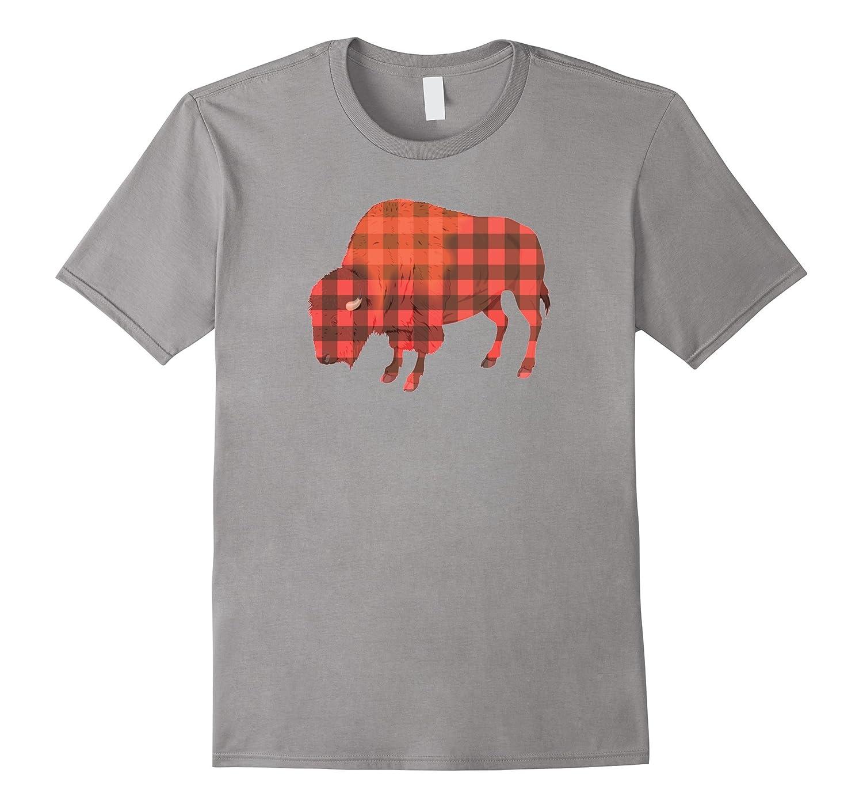 60128e9d0 Buffalo Plaid Print Bison Funny Pun Holiday Christmas Shirt-ANZ ...