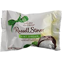 Russell Stover Mint Dream Bar 1.125 Ounce Bars (Pack of 24) Russel Stover Candy, Mint Chocolate Dream Bar Candy Pack, Individually Wrapped Fluffy Mint Bar Covered in Rich Chocolate Candy