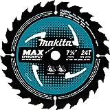 """Makita B-61656 7-1/4"""" 24T Carbide-Tipped Max Efficiency Circular Saw Blade, Framing"""