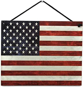 Egbert's Treasures 8x10 Patriotic American Flag Vintage Style Sign for Home Decor and Holidays - USA America - Decorative Fun Universal Household Sign