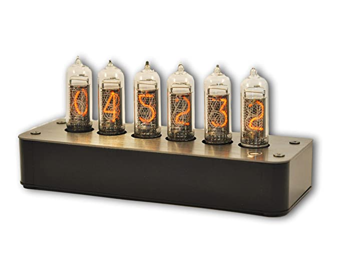 Amazon.com : Makenology Nixie Tube Clock Boulder 2 - Stainless Steel Black Gray : Electronics