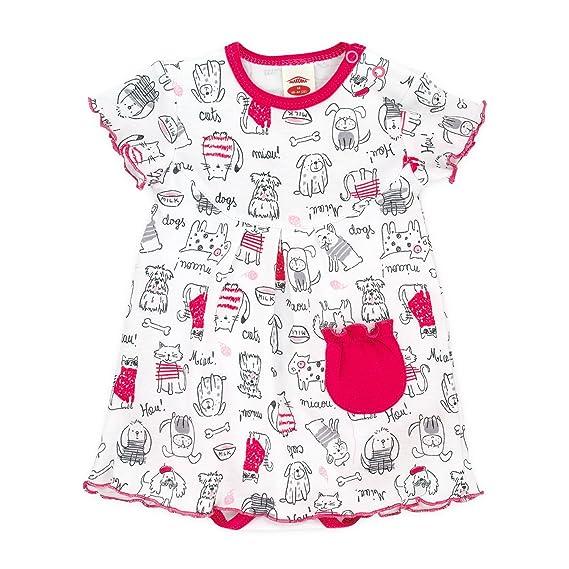 Baby Body-Kleid Kurzarm NEU Baumwolle Größe 68-86