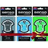 Senso Combo Pack of Mojito, Black and Ocean T-Gel Car Perfumes (8ml each)