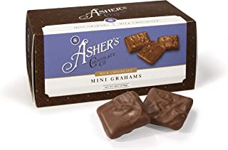 product image for Asher's Chocolates, Gourmet Chocolate Covered Mini Grahams, Small Batches of Kosher Chocolate, Family Owned Since 1892, Snack Size Box (6 oz, Milk Chocolate)