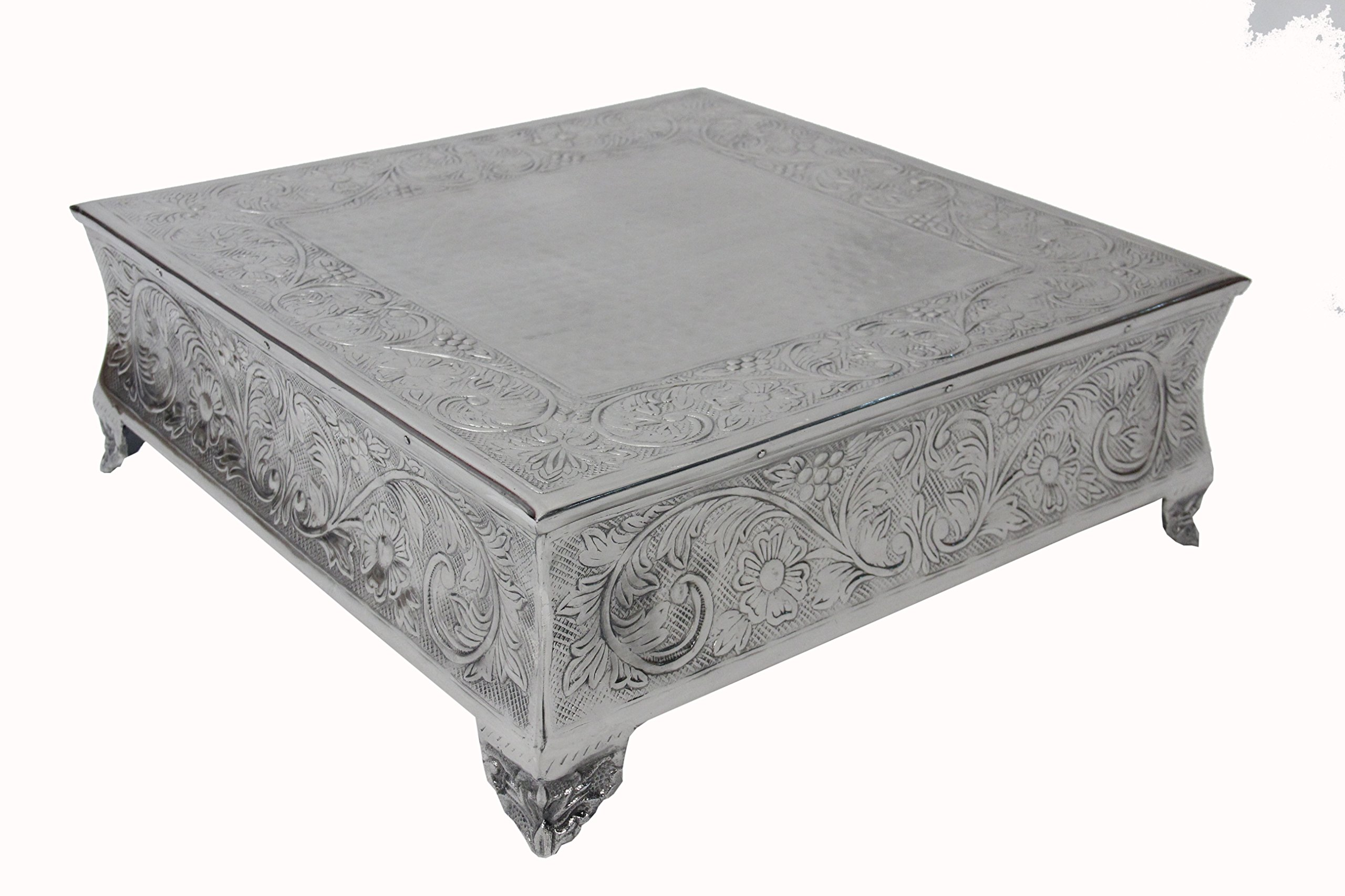GiftBay Creations 751-22S Wedding Square Cake Stand, 22-Inch, Silver by GiftBay Creations (Image #7)