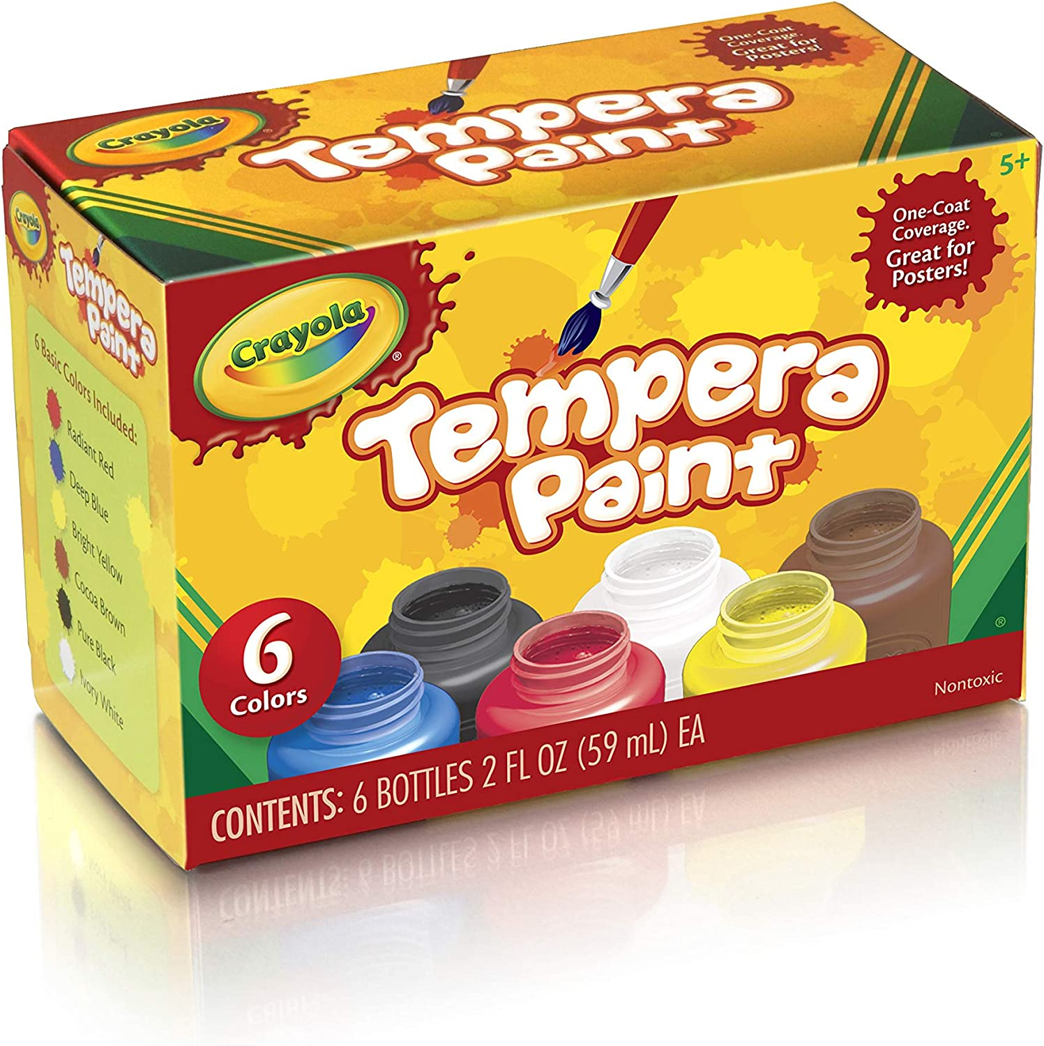 Crayola Tempera Paint Set, 2-Ounce, 6 Count: Toys & Games