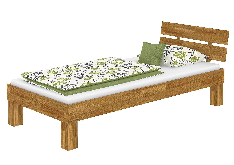 Erst-Holz® Eiche-Bettgestell massiv Einzelbett 100x200 Futonbett ...