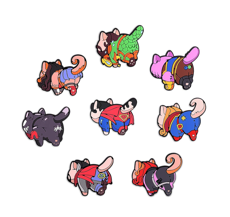 Exclusive Cat Butt Refrigerator Magnets - Super Hero Magnets - Marvel & DC Universe Legends (Set#02)