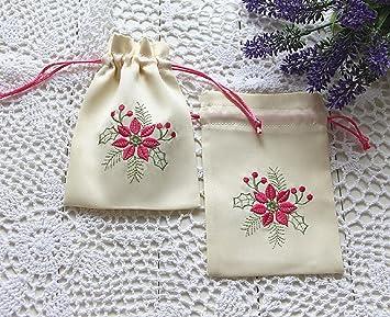 手作り 巾着袋 小物入れ ポーチ 刺繍 可愛い 花柄 小物収納 コスメ入れ 匂い袋