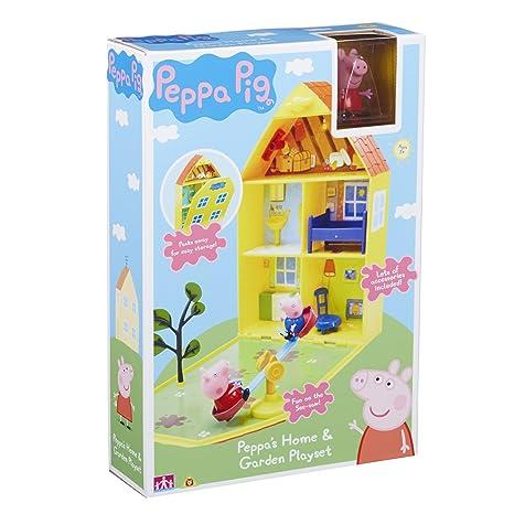 Peppa Pig 06156 - Maletín de Juego Casa y jardín de Peppa
