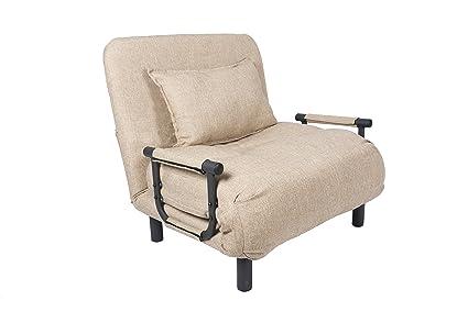 Beau Pragma Bed SSCC BGE02 Single Sleeper Convertible Chair, Beige