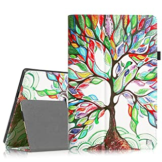 Fintie Folio Case for Microsoft Surface RT/Surface 2 10.6 inch Tablet Slim Fit with Stylus Holder (Does Not Fit Windows 8 Pro Version) - Love Tree