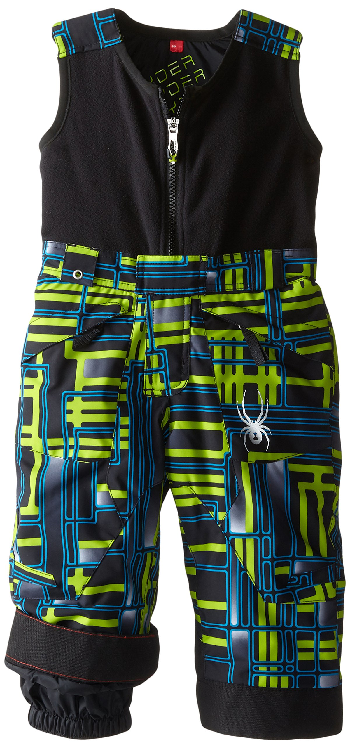 Spyder Boys Mini Expedition Pant, 4, Theory Green Routed Print/Theory Green Routed Print