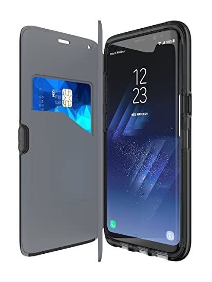 new product 1ad17 b0d12 tech21 - Phone Case Compatible with Samsung Galaxy S8 - Evo Wallet - Black