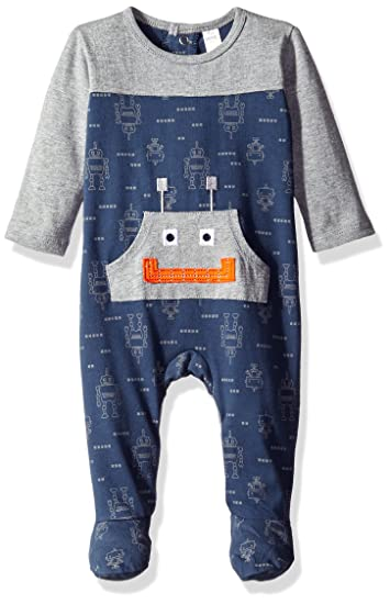 fed5876e9 Amazon.com  Petit Lem Baby Boys  Robot One Piece Footed Outfit  Clothing