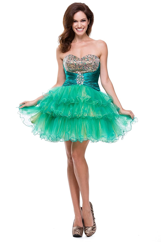 Amazon.com: Juliet Dresses Women\'s Short, print prom dress 1212J ...
