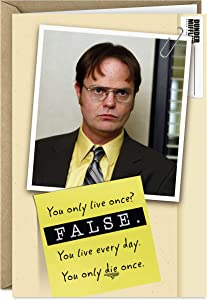 Hallmark Shoebox The Office Birthday Card (Dwight Schrute, False)