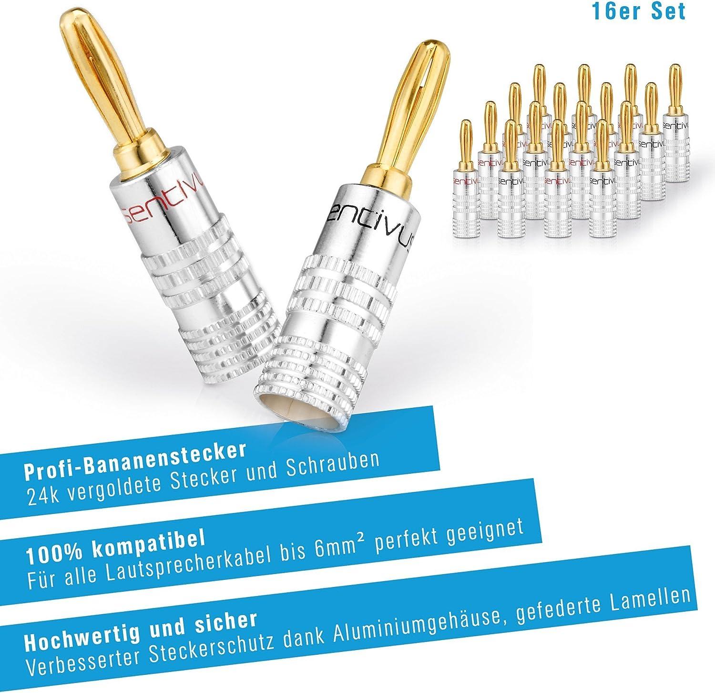 Sentivus Sc010 16 Bananenstecker Professionell Für Elektronik