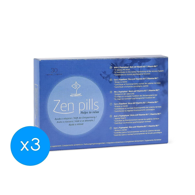 3 Zen Pills: Cápsulas relajantes para controlar la ansiedad: Amazon.es: Salud y cuidado personal