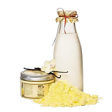 Vainilla baño leche en polvo con aceite natural, 250 g (flores), lujo