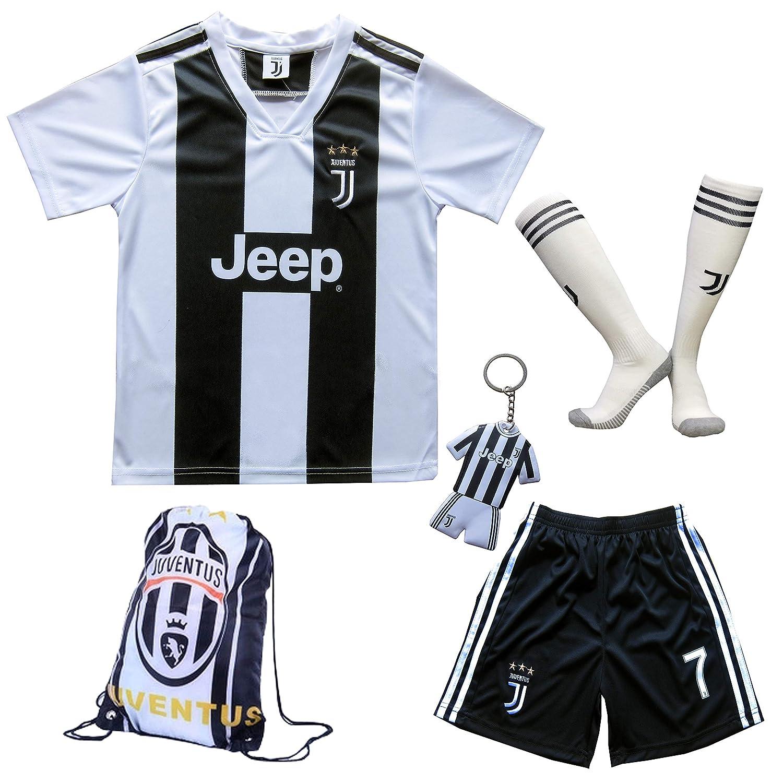7d36ae60a68 Amazon.com   GamesDur 2018 2019 Cristiano Ronaldo  7 Home Football Soccer  Kids Jersey   Short   Sock   Soccer Bag Youth Sizes   Sports   Outdoors