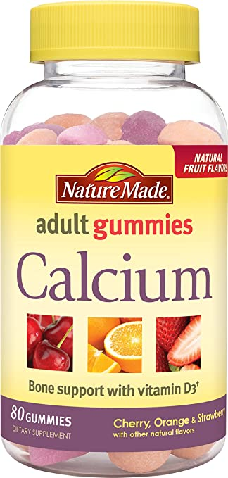 e88ae85216f Amazon.com  Nature Made Calcium w. D3 Adult Gummies (500 mg of ...