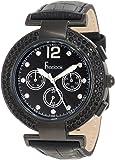 Freelook Women's HA1335B-1 Black Dial With Stones & Swarovski Bezel Watch