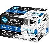 川西工業 クリーンベルズ 活性炭フィルターマスク 4PLY 50枚入 ホワイト フリー 【4層式】 #7029