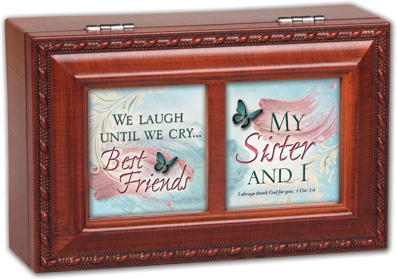 注目の My Sister B00KMDHXGO And I Cottage Garden in Rich Plays Woodgrain Finish with Rope Trim Petite Jewelry Music Box - Plays Song What a Friend We Have in Jesus by Cottage Garden B00KMDHXGO, スケートハウスさいたま:9e1f3e05 --- arcego.dominiotemporario.com