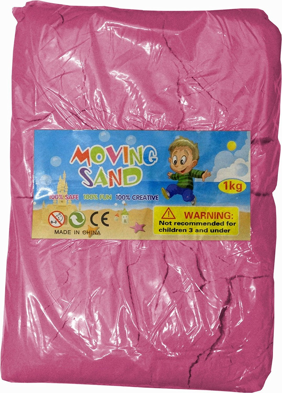 Innova® Motion Sand Kinetic Magic Childrens Kids Moving 1kg Play Set PINK Innova Brands Ltd.