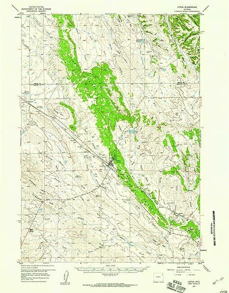 Amazon.com: YellowMaps Upton WY topo map, 1:62500 Scale, 15 X 15