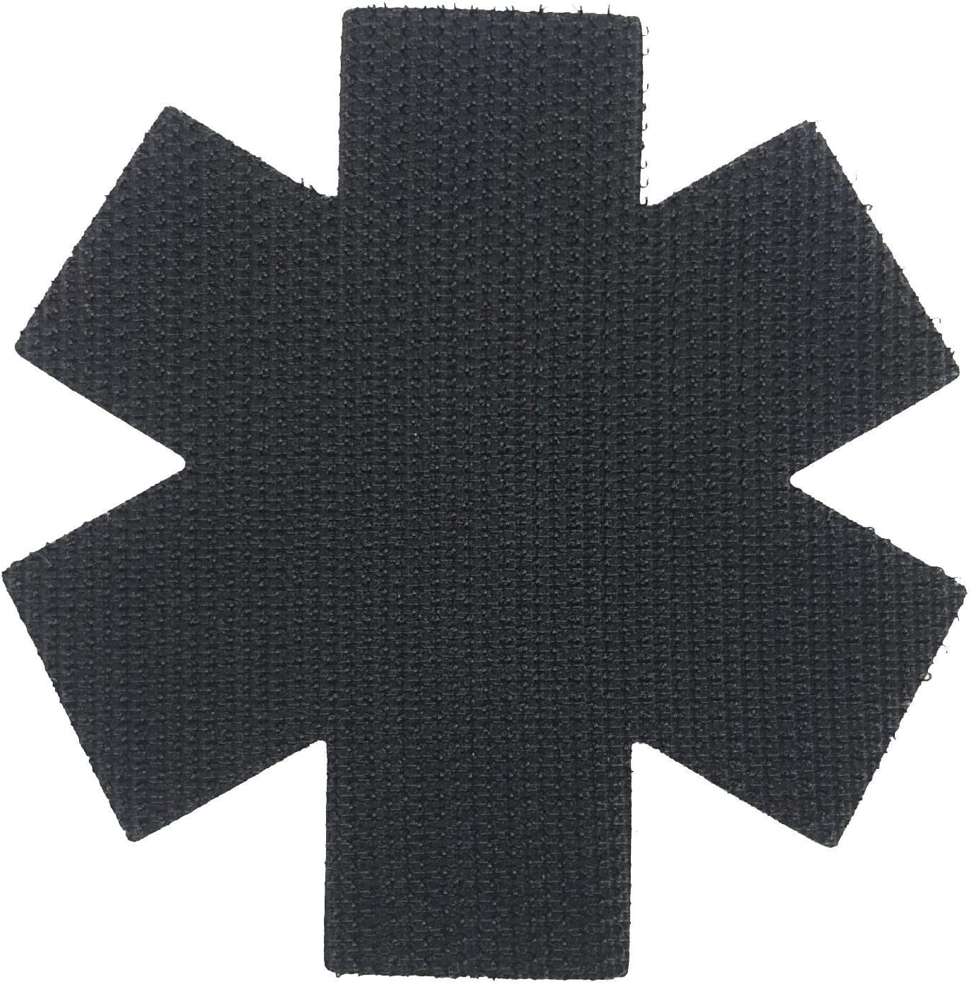 EMS Medical Responder 3 Star of Life Dual Snake Black /& Grey PVC Morale Patch