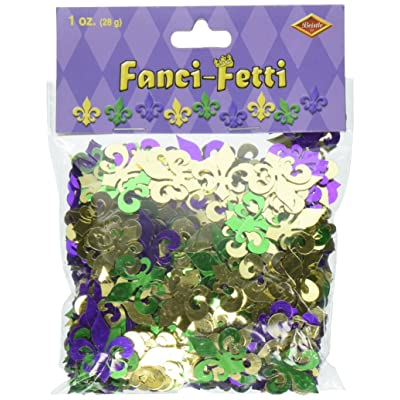 Fanci-Fetti Fleur De Lis (gold, green, purple) Party Accessory (1 count) (1 Oz/Pkg): Kitchen & Dining